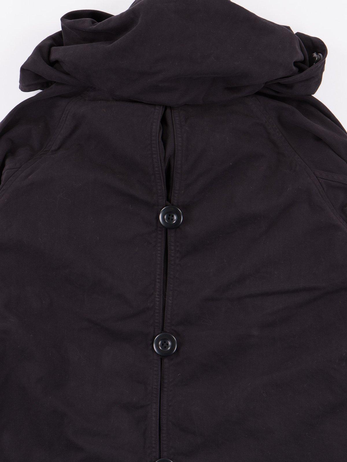 Black Brushed Twill Tri–P Ring Coat - Image 6