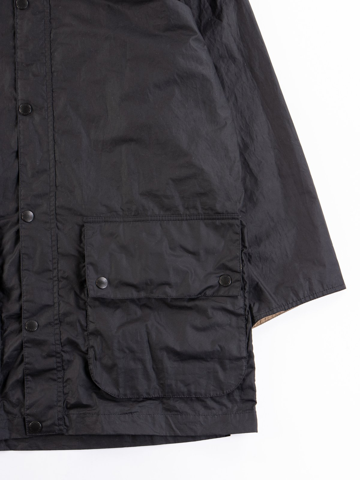 Black Hiking Waxed Cotton Jacket - Image 5