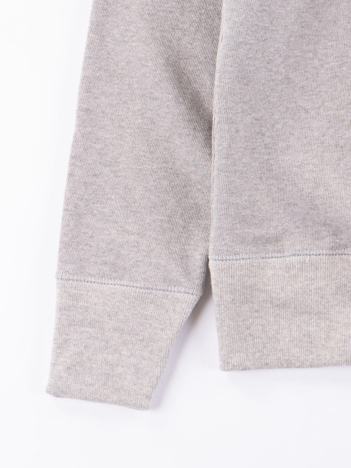 Grey Melange 3S48 Organic Cotton Heavy Sweater - Image 3