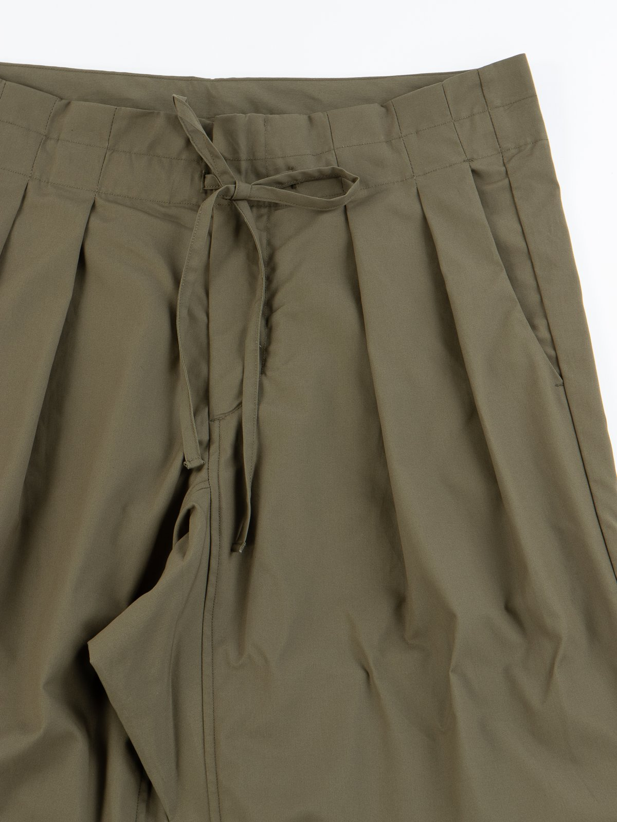 Olive Oxford Vancloth Drop Crotch Pant - Image 3