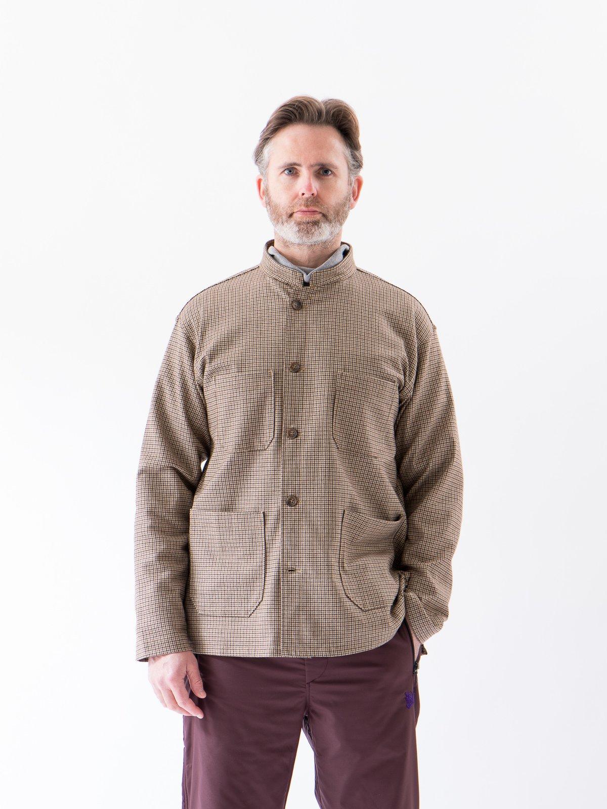 Brown Wool Poly Gunclub Dayton Shirt - Image 2