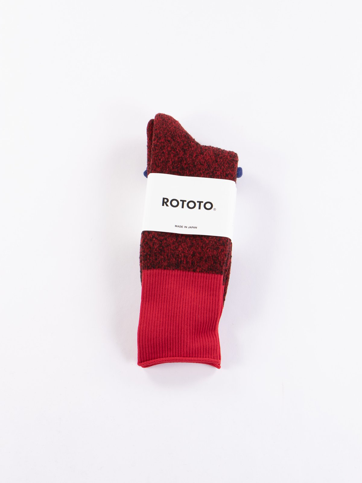 Red/Red Thermo Fleece Double Face Crew Socks - Image 2