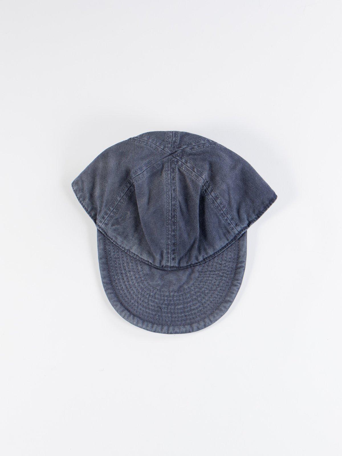 Black Navy Washed Army Mechanics Cap - Image 1