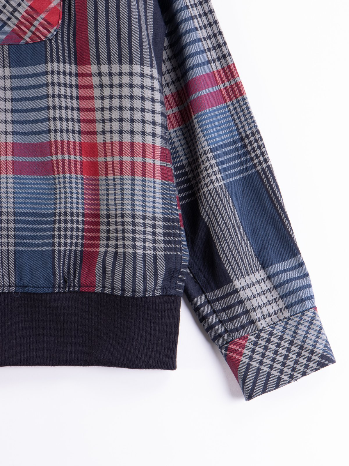 Navy/Grey/Red Cotton Twill Classic Shirt - Image 4
