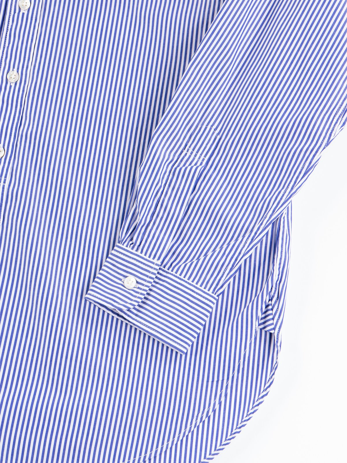 Blue/White Candy Stripe Broadcloth 19th Century BD Shirt - Image 5