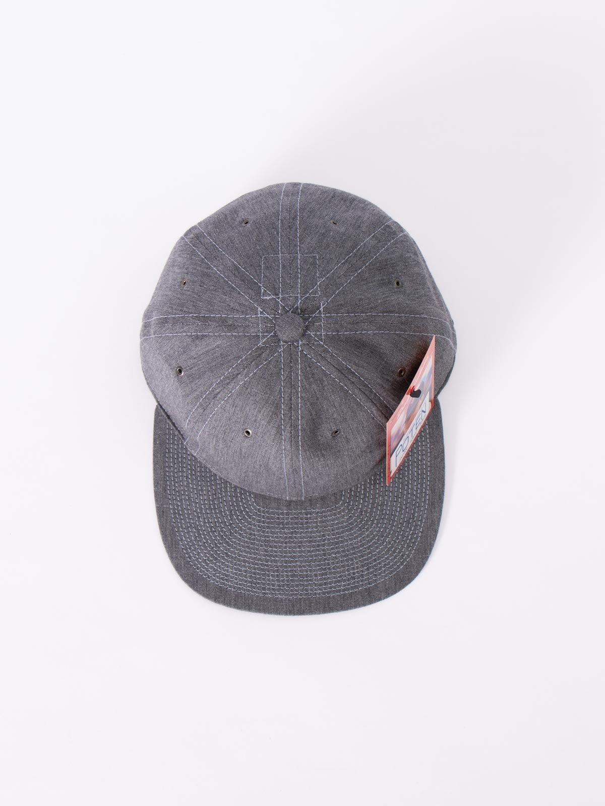 GREY COTTON LINEN CAP - Image 3