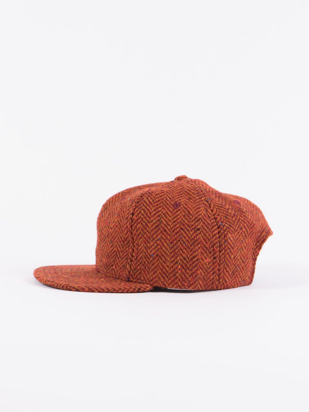 Rust HB Tweed NIer 6 Panel Ballcap - Image 2