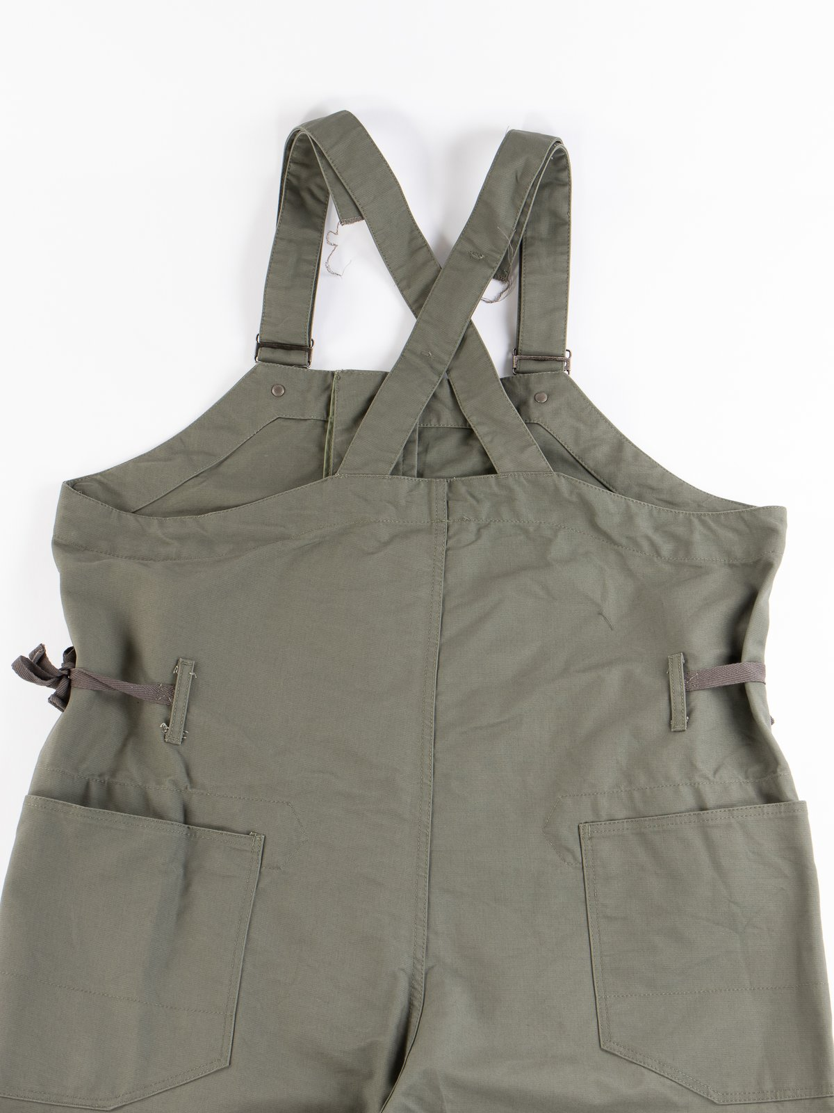 Olive Cotton Double Cloth Overalls - Image 5