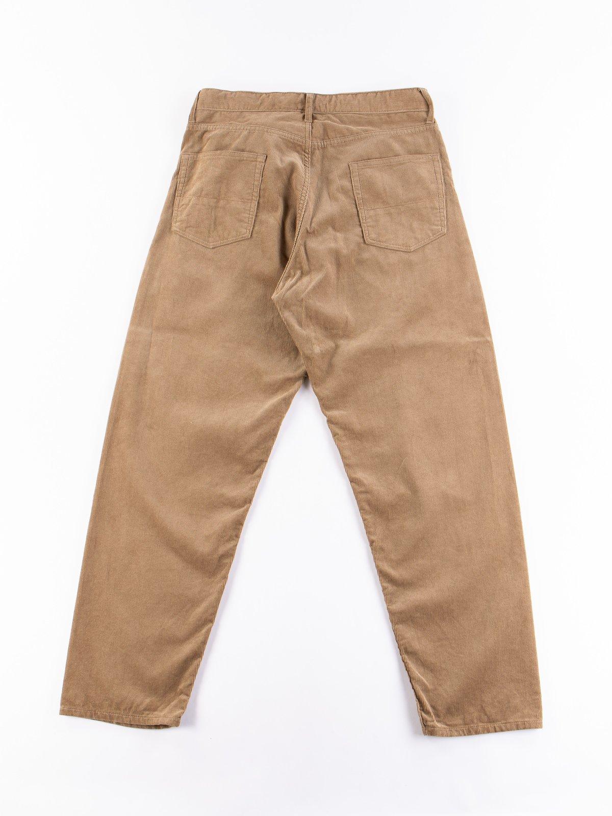 Khaki 14W Corduroy Wide Peg Jean - Image 5