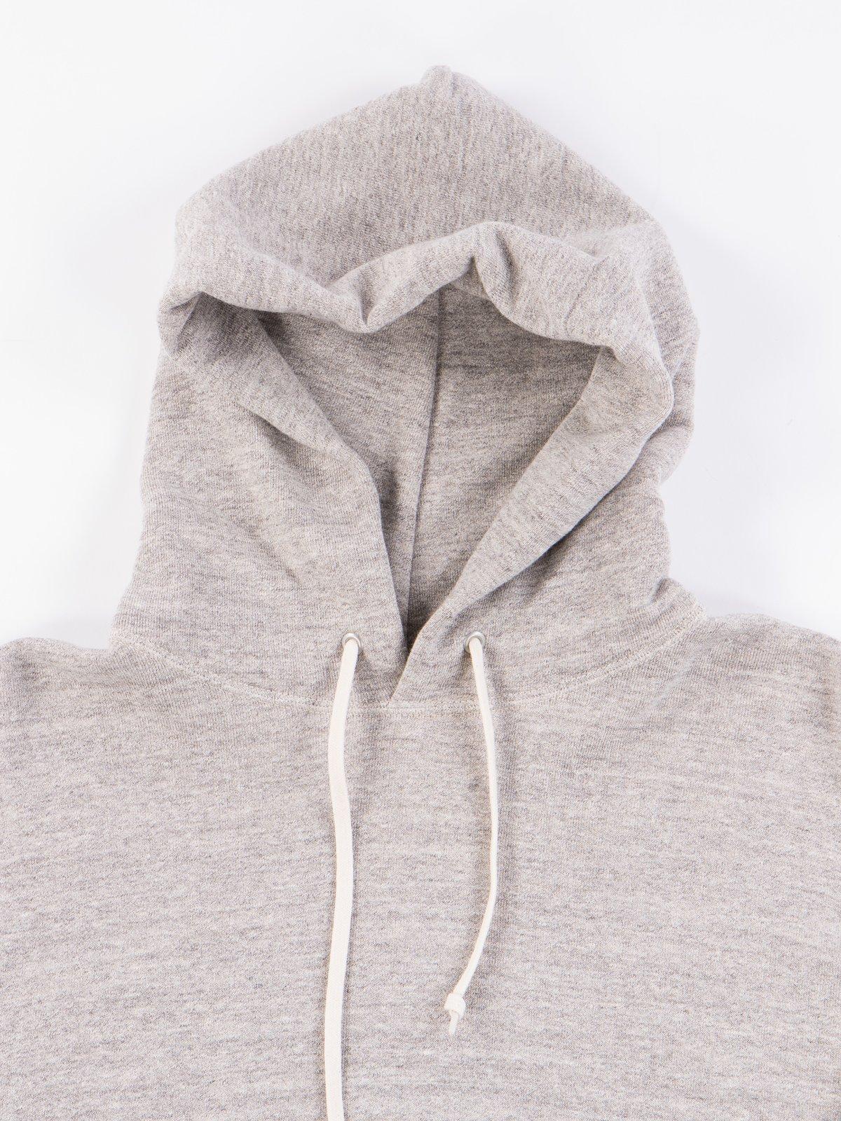 Heather Grey Hooded Sweat - Image 4