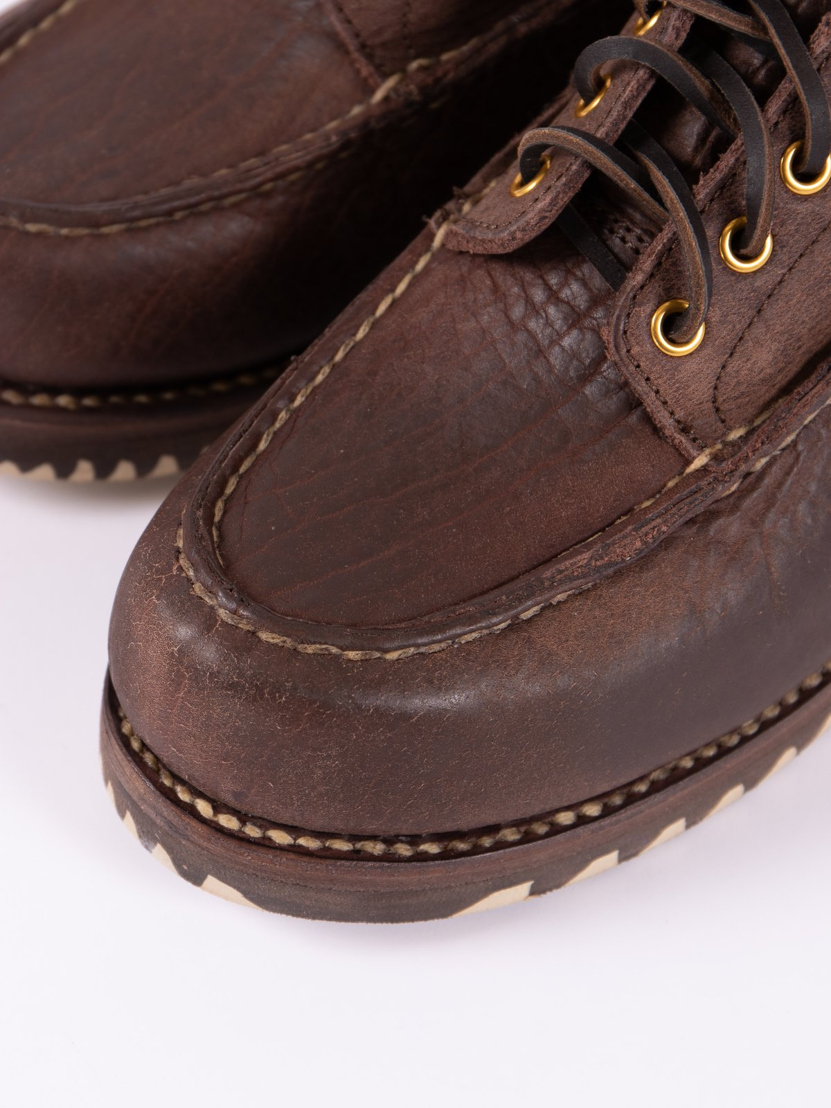 Dark Brown Kainai Moc Toe–Folk - Image 3
