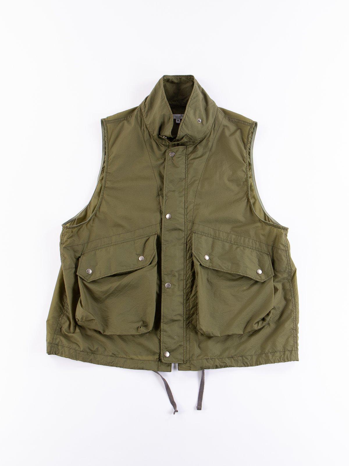 Olive Nylon Micro Ripstop Field Vest - Image 1