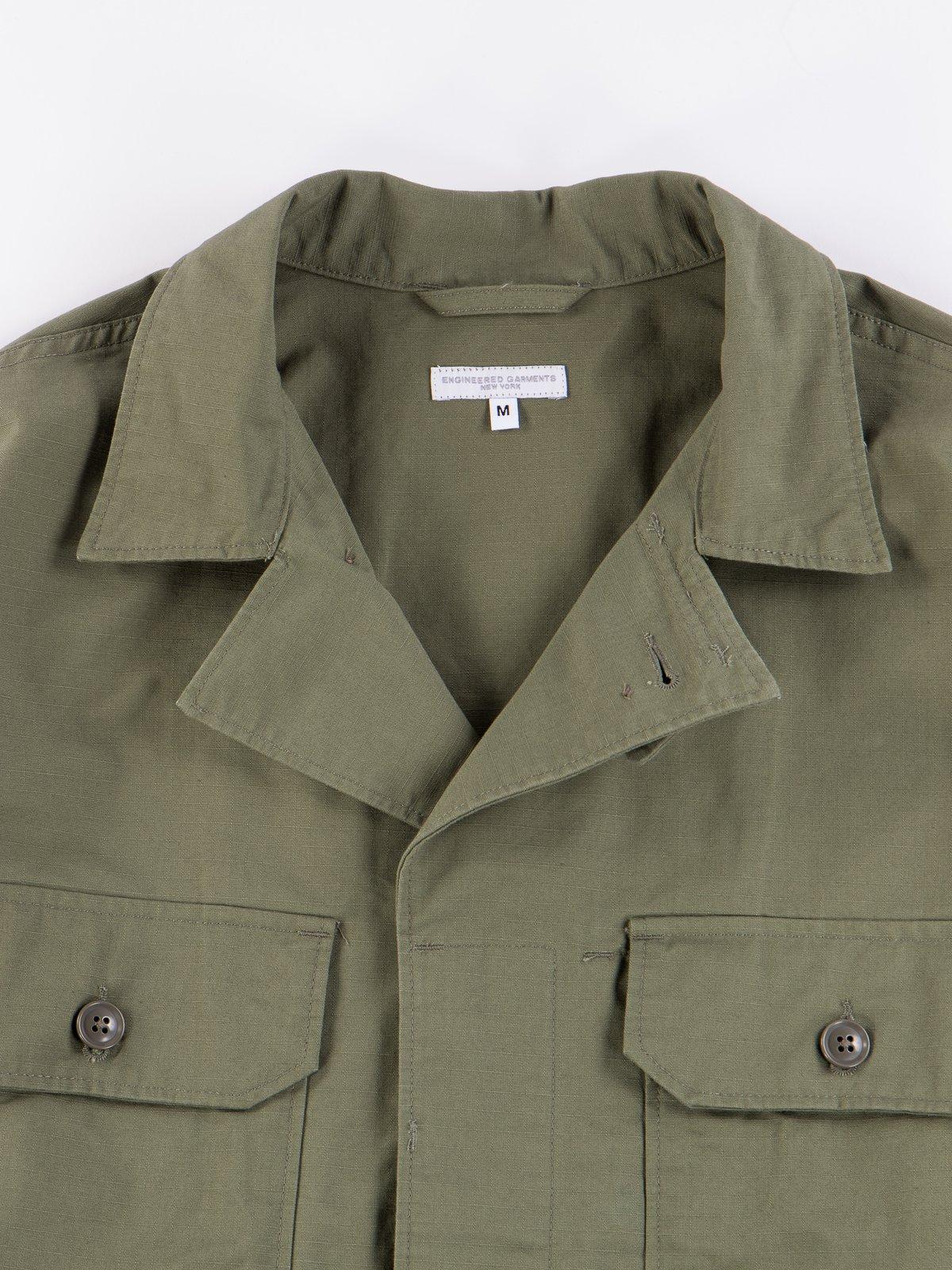 Olive Cotton Ripstop MC Shirt Jacket - Image 6