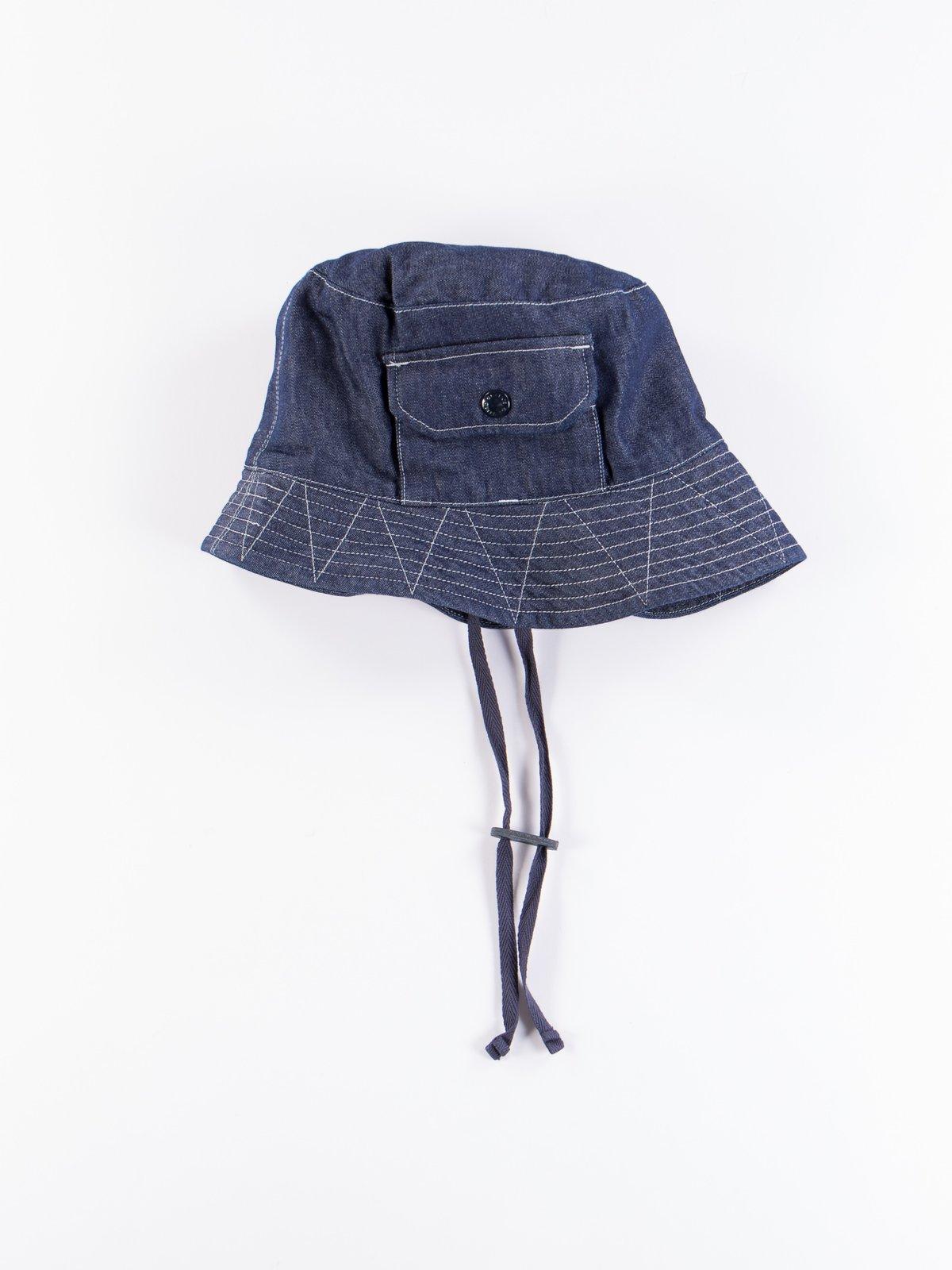 Indigo 8oz Cone Denim Explorer Hat - Image 1