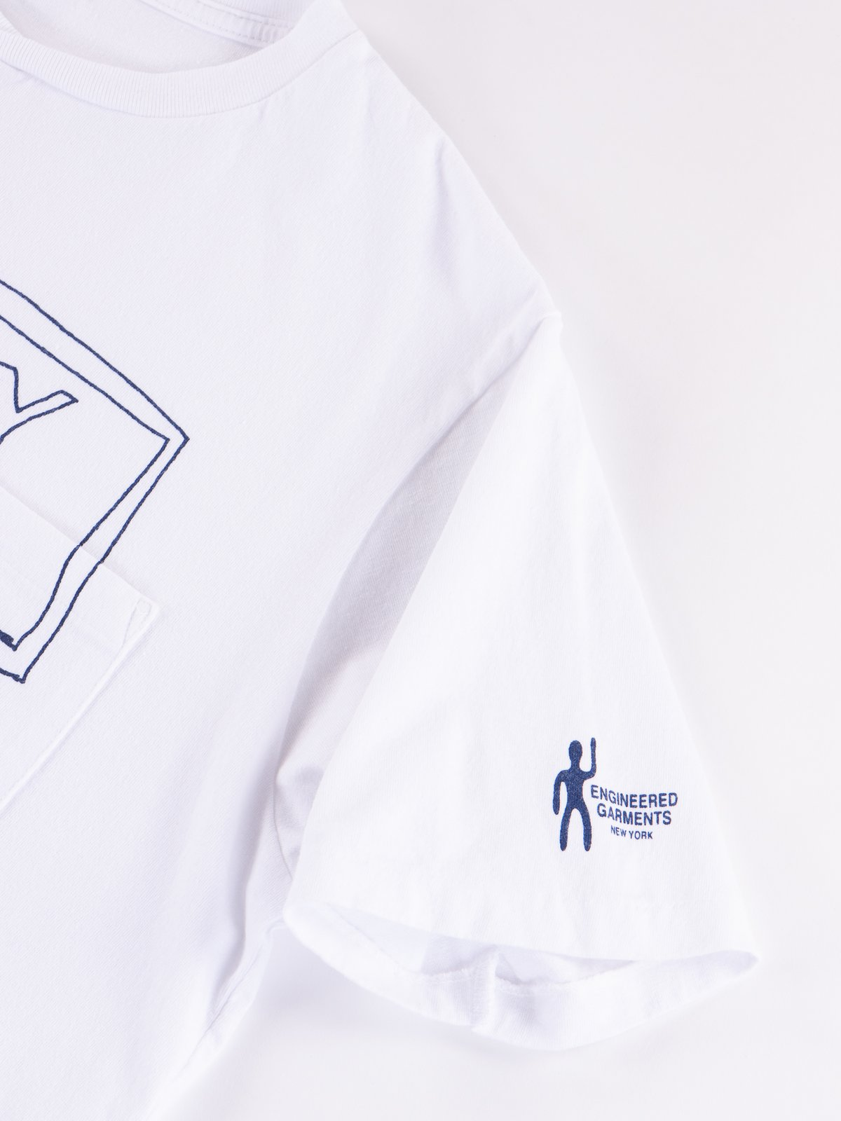 White Everyone Crossover Crew Pocket Tee - Image 3