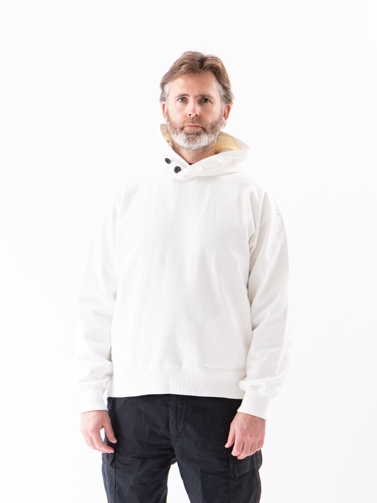 Off White High Density Sweat Pullover Parka - Image 2
