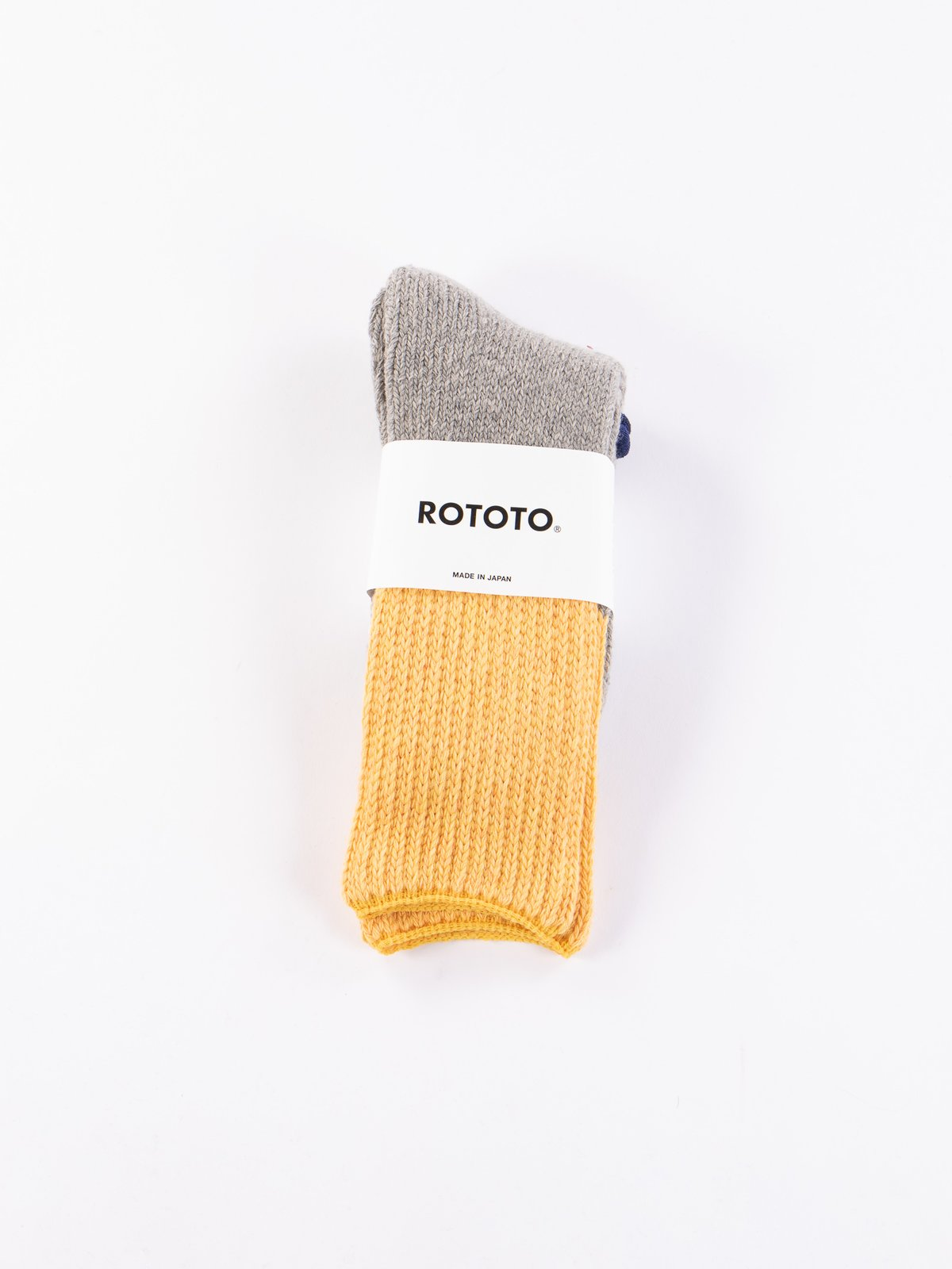 Yellow/Light Grey Teasel Socks - Image 2