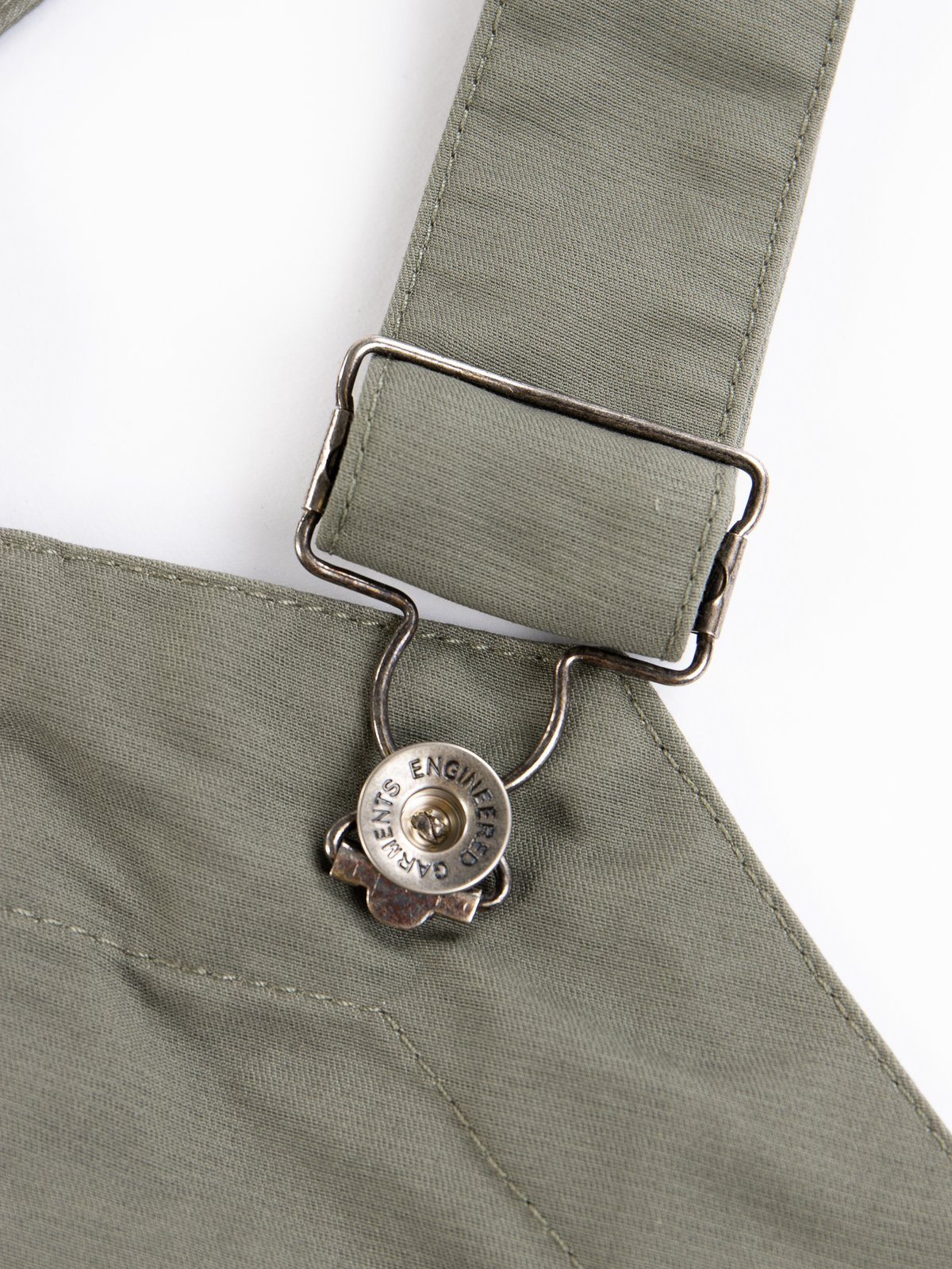 Olive Cotton Double Cloth Overalls - Image 4