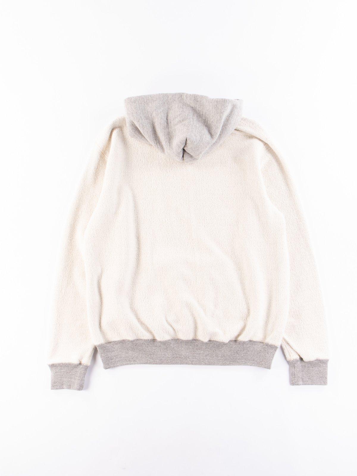 Heather Grey Reversible Print Hooded Sweat - Image 6