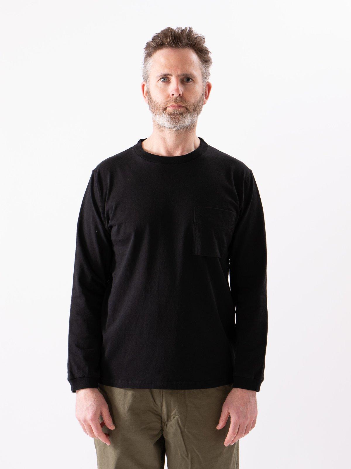 Black Long Sleeve Pocket T–Shirt - Image 7