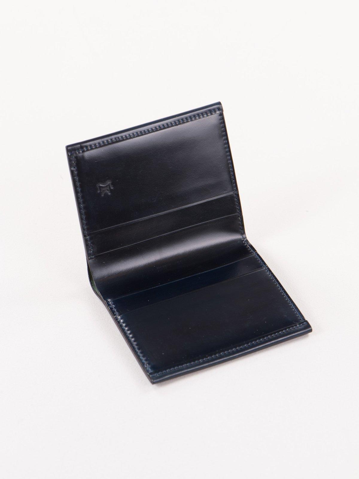 Navy Horween Cordovan 2–2 Wallet - Image 2