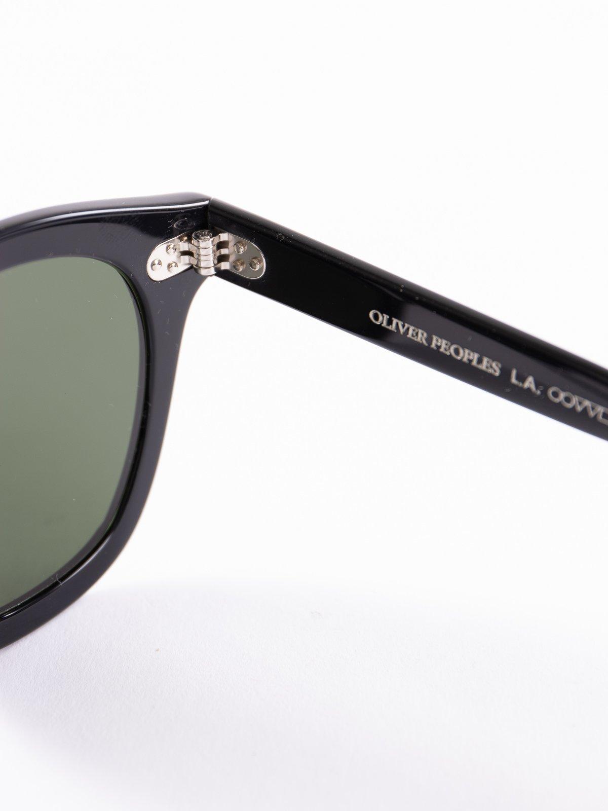 Black/Dark Green Boudreau LA Sunglasses - Image 4