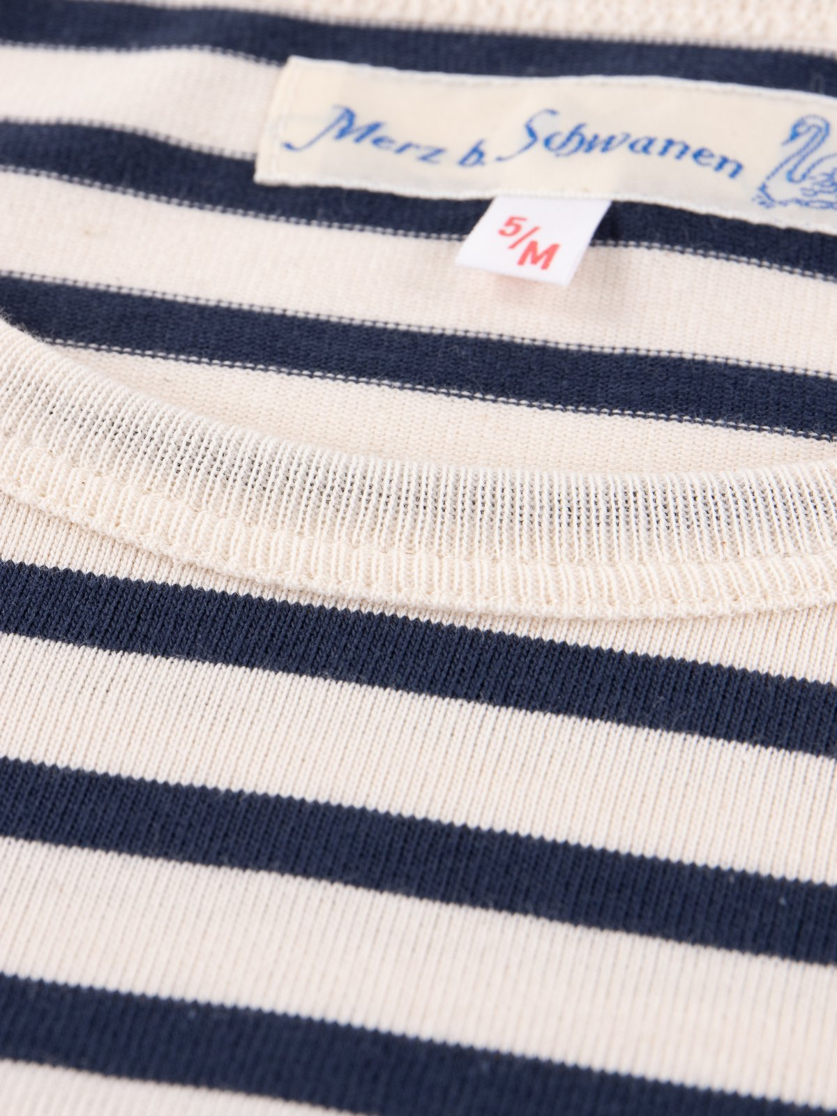 Ink/Natural Stripe 2M12 Crew Neck Long Sleeve Tee - Image 4