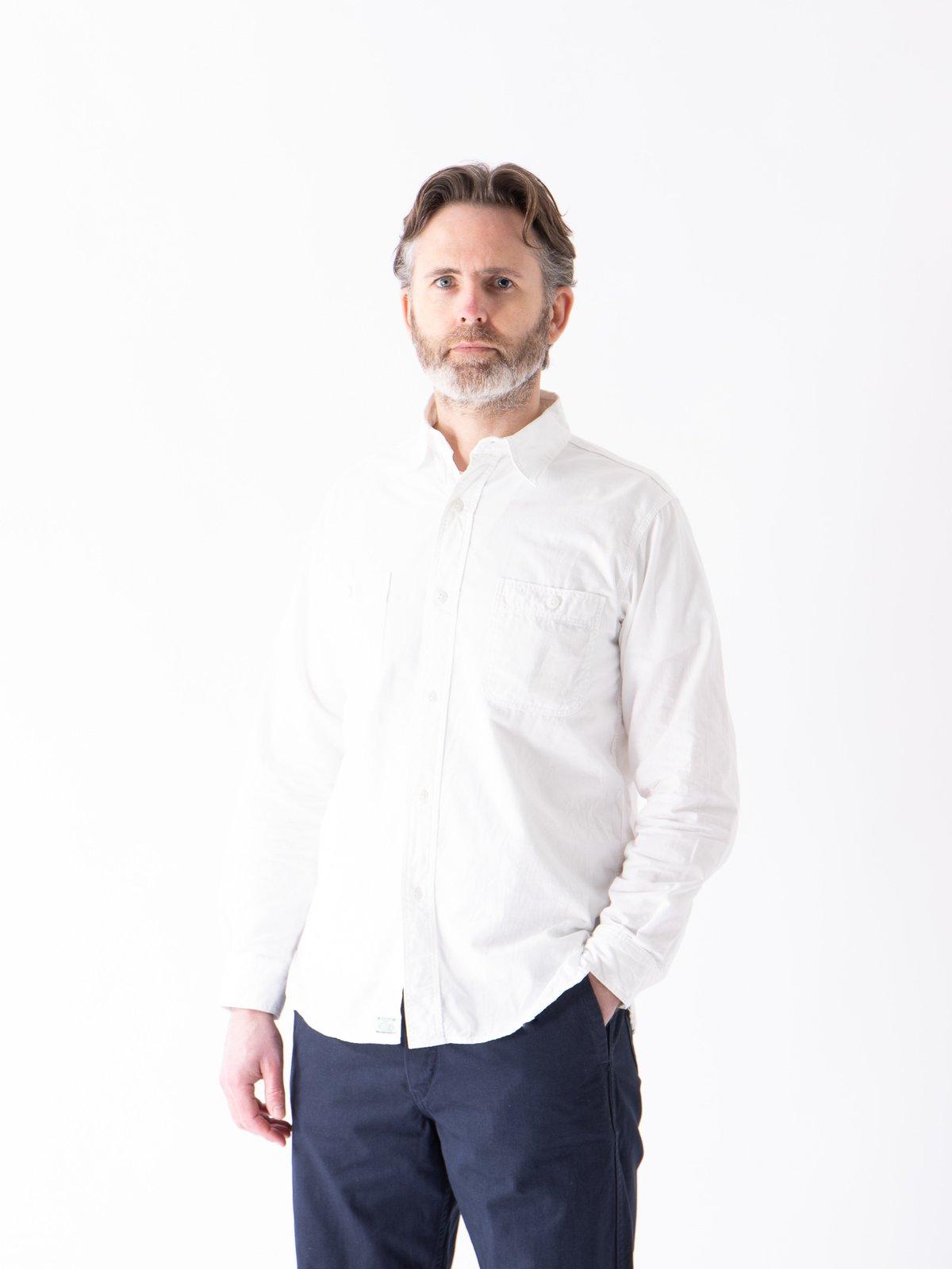 White Chambray Work Shirt - Image 2