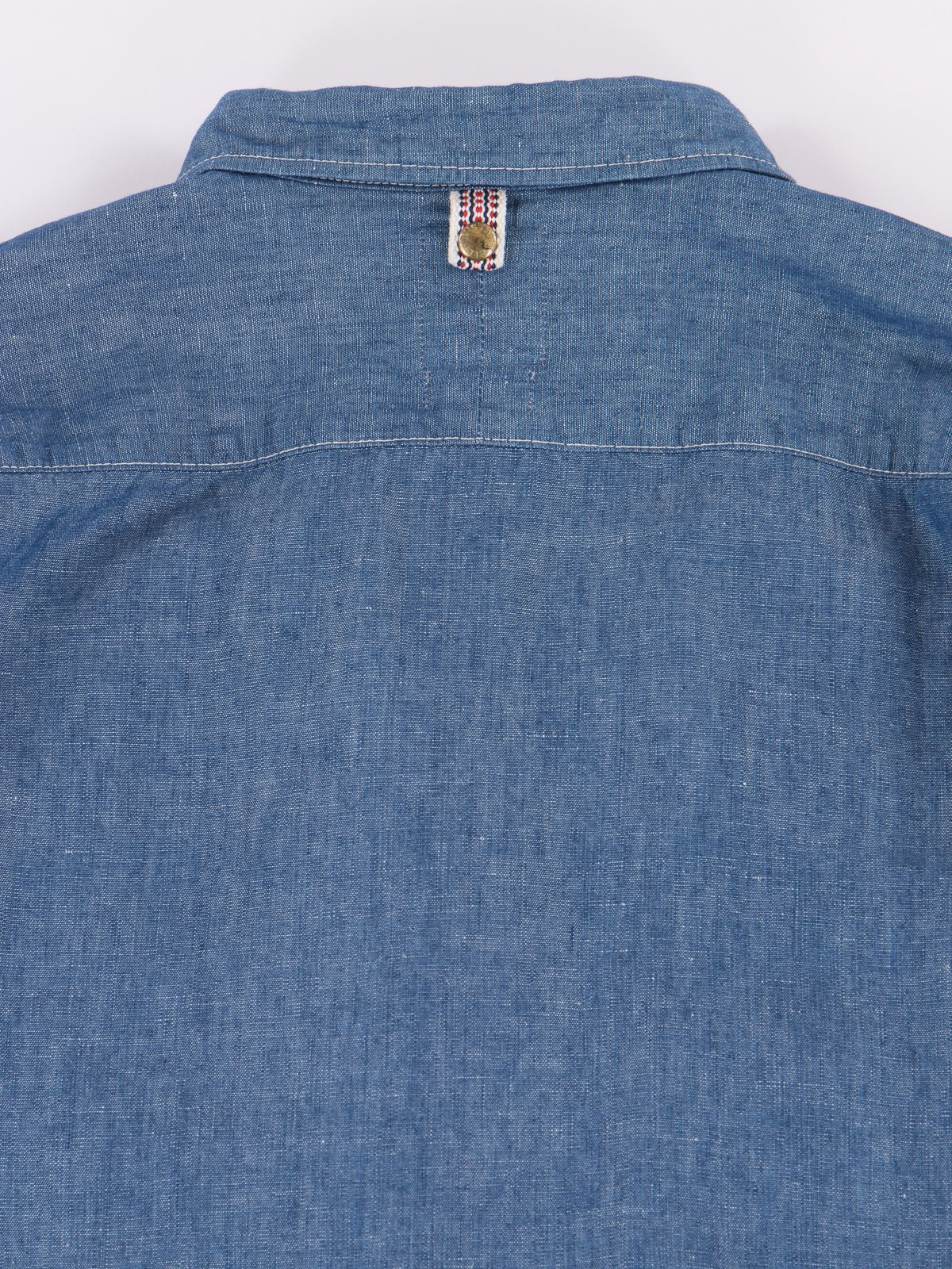 Blue Chambray Kerchief Tunic Shirt - Image 5