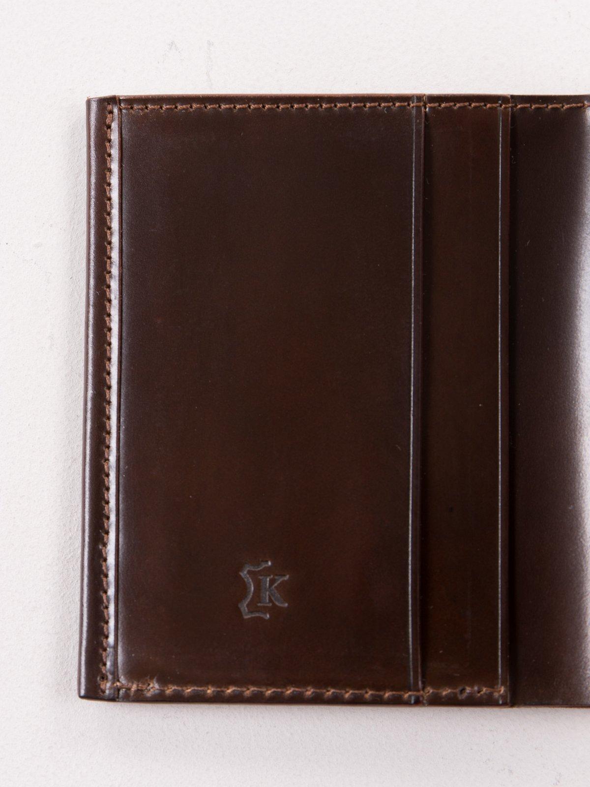 Cognac Horween Cordovan 2–2 Wallet - Image 3