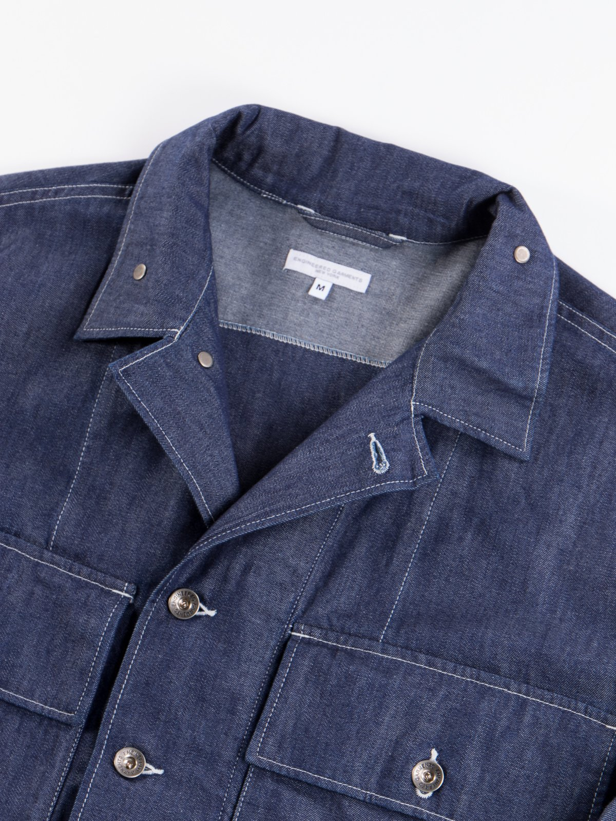 Indigo 8oz Cone Denim M43/2 Shirt Jacket - Image 7