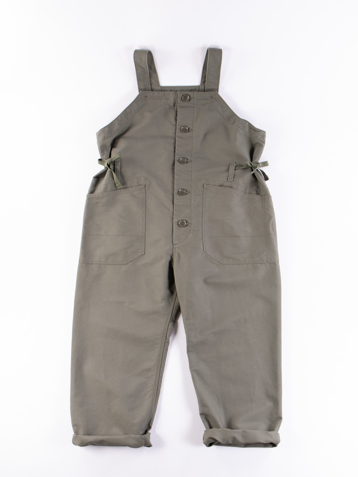 Olive Cotton Double Cloth Waders - Image 1