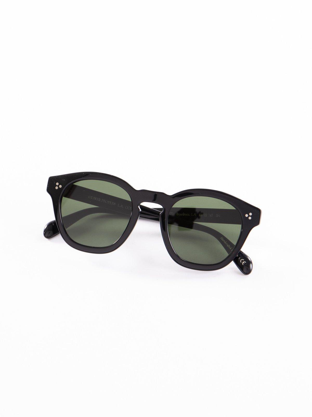 Black/Dark Green Boudreau LA Sunglasses - Image 1