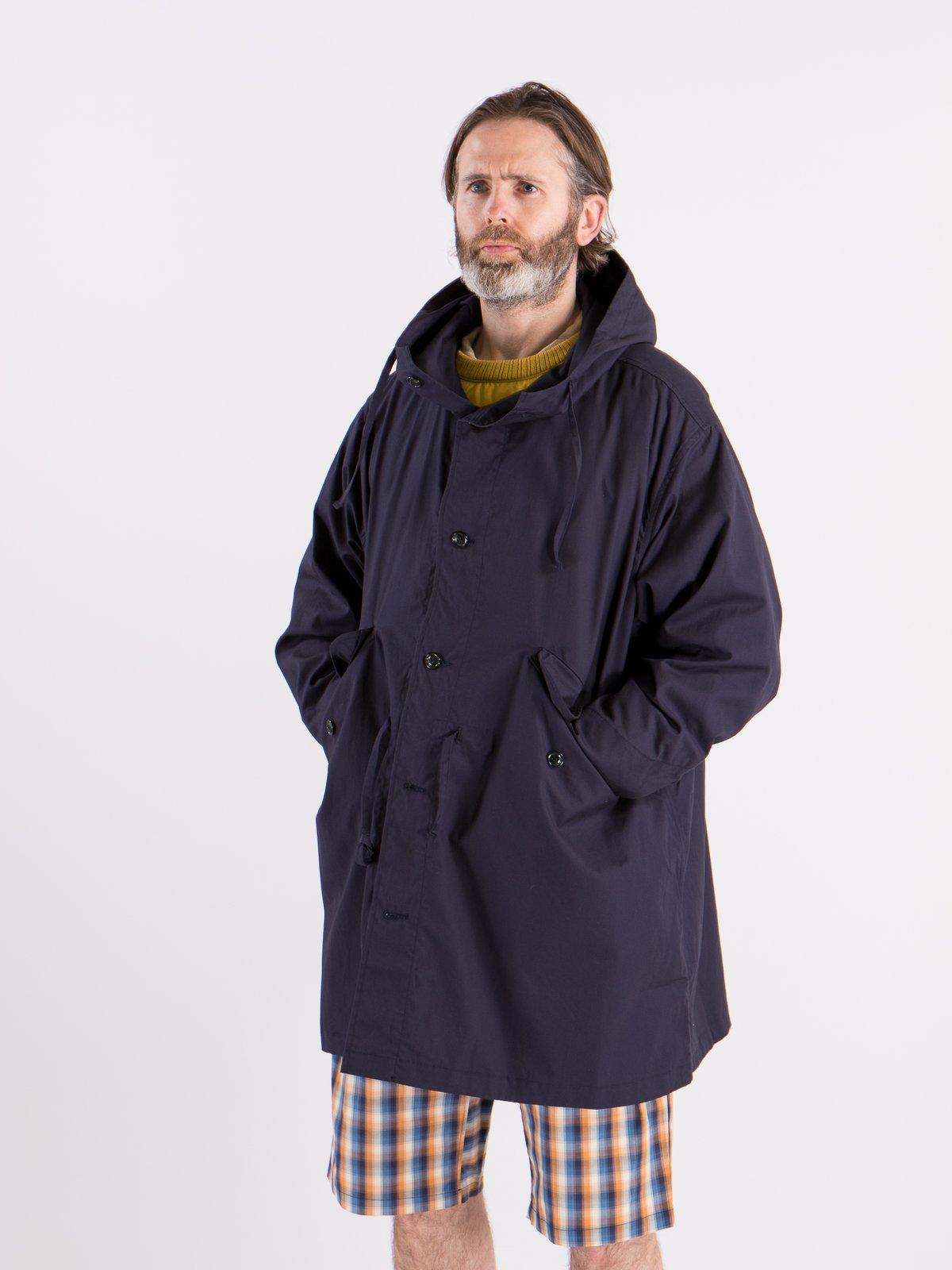 Navy Oxford Vancloth Czech Coat - Image 2