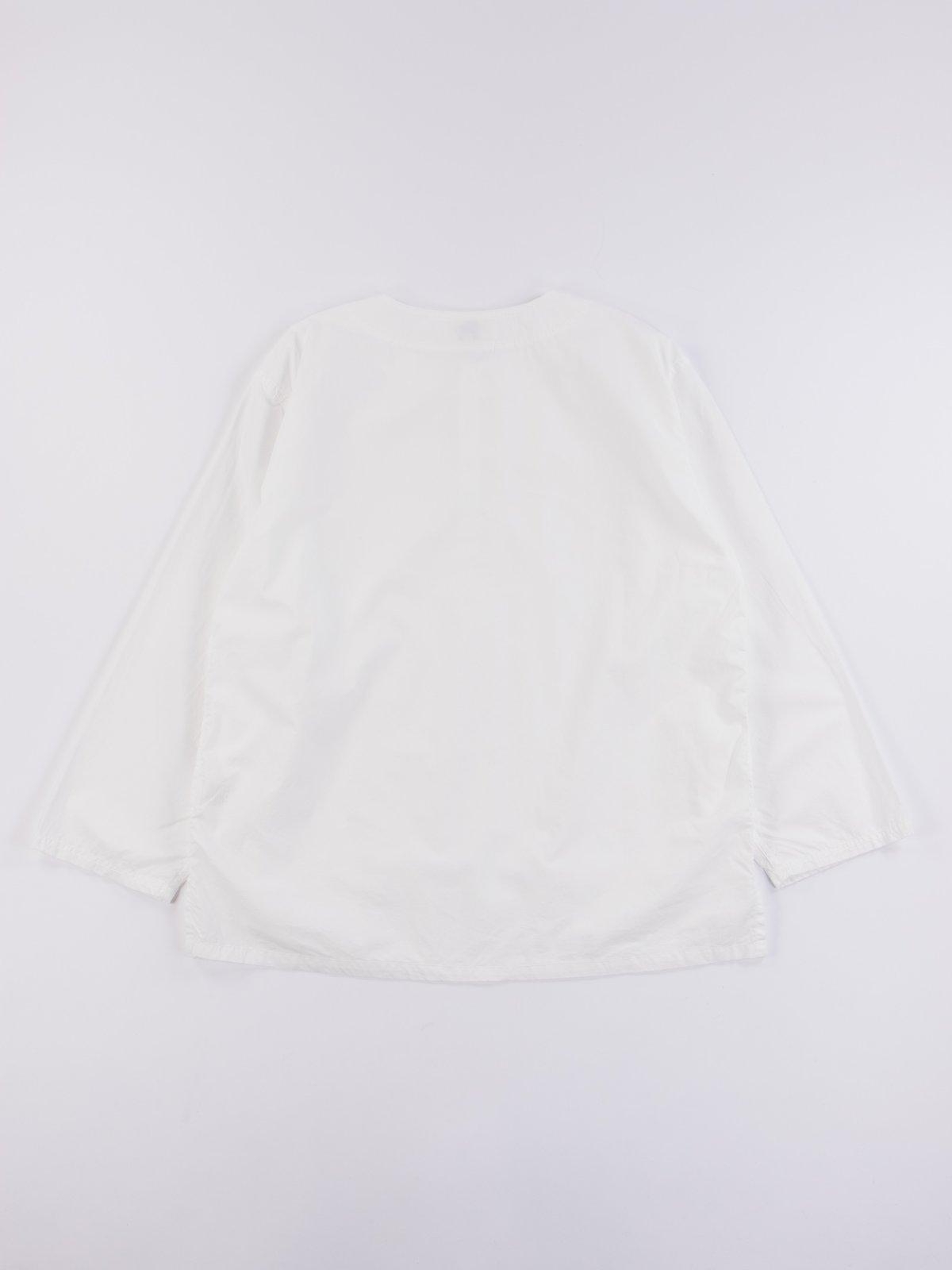 White Poplin Pullover Shirt - Image 5