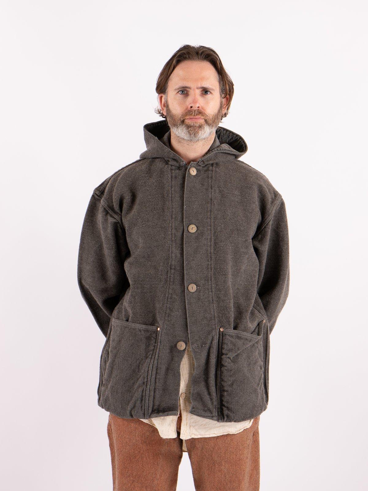 Indian Black Dye Hooded Shepherd's Coat - Image 2