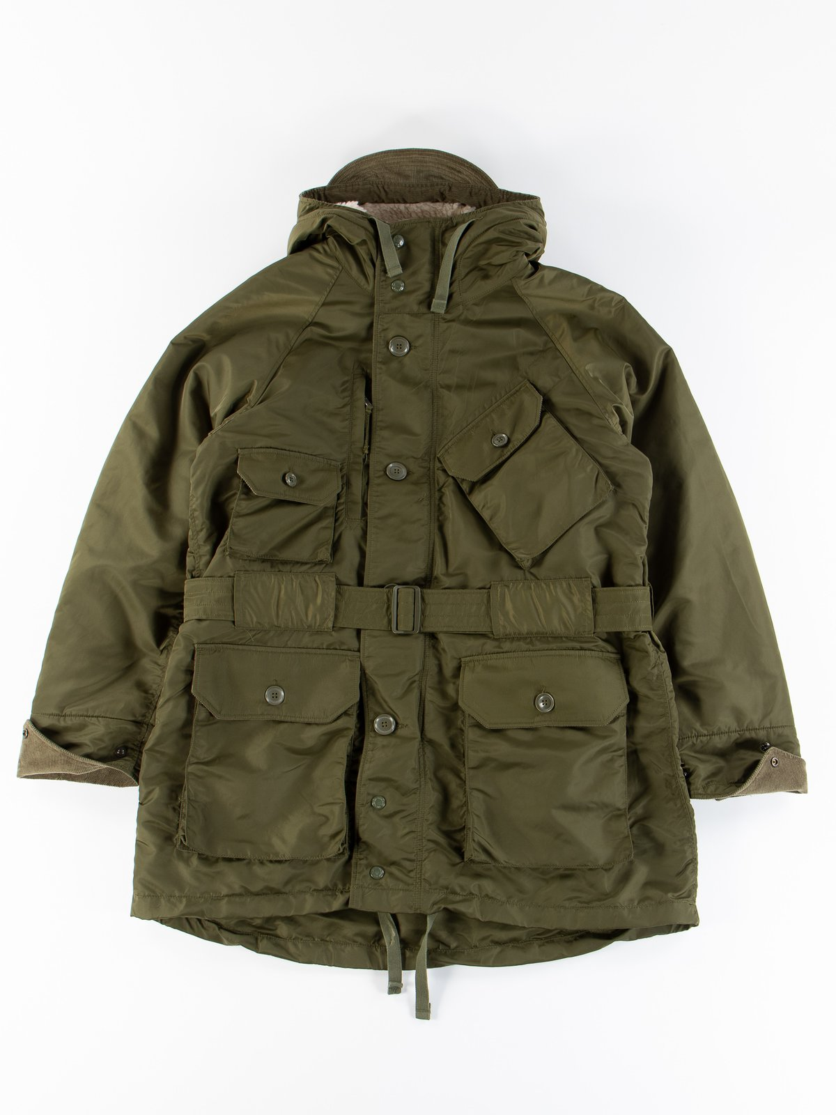 Olive Flight Satin Nylon Field Parka - Image 1