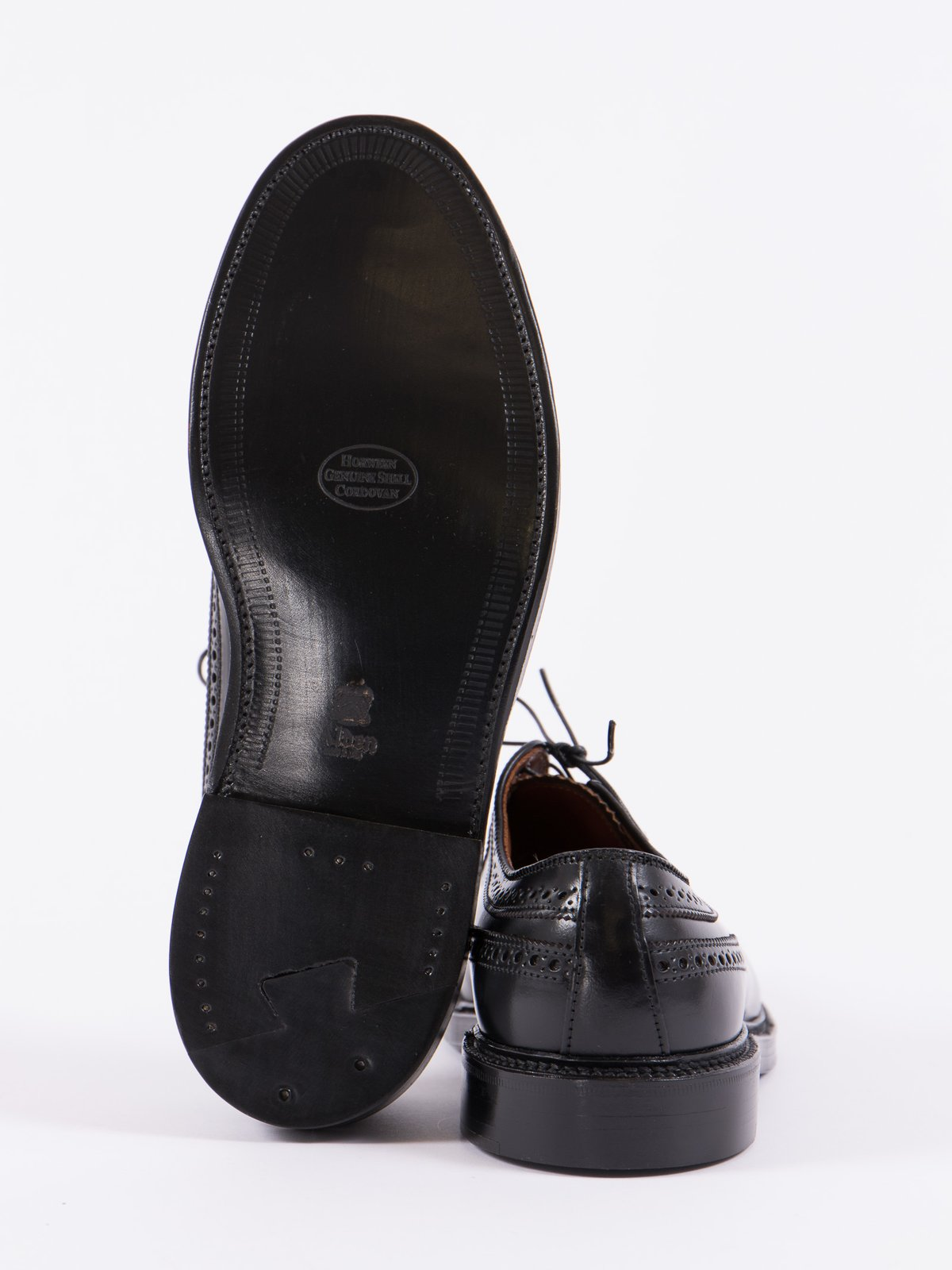 Black Cordovan Long Wing Blucher - Image 4