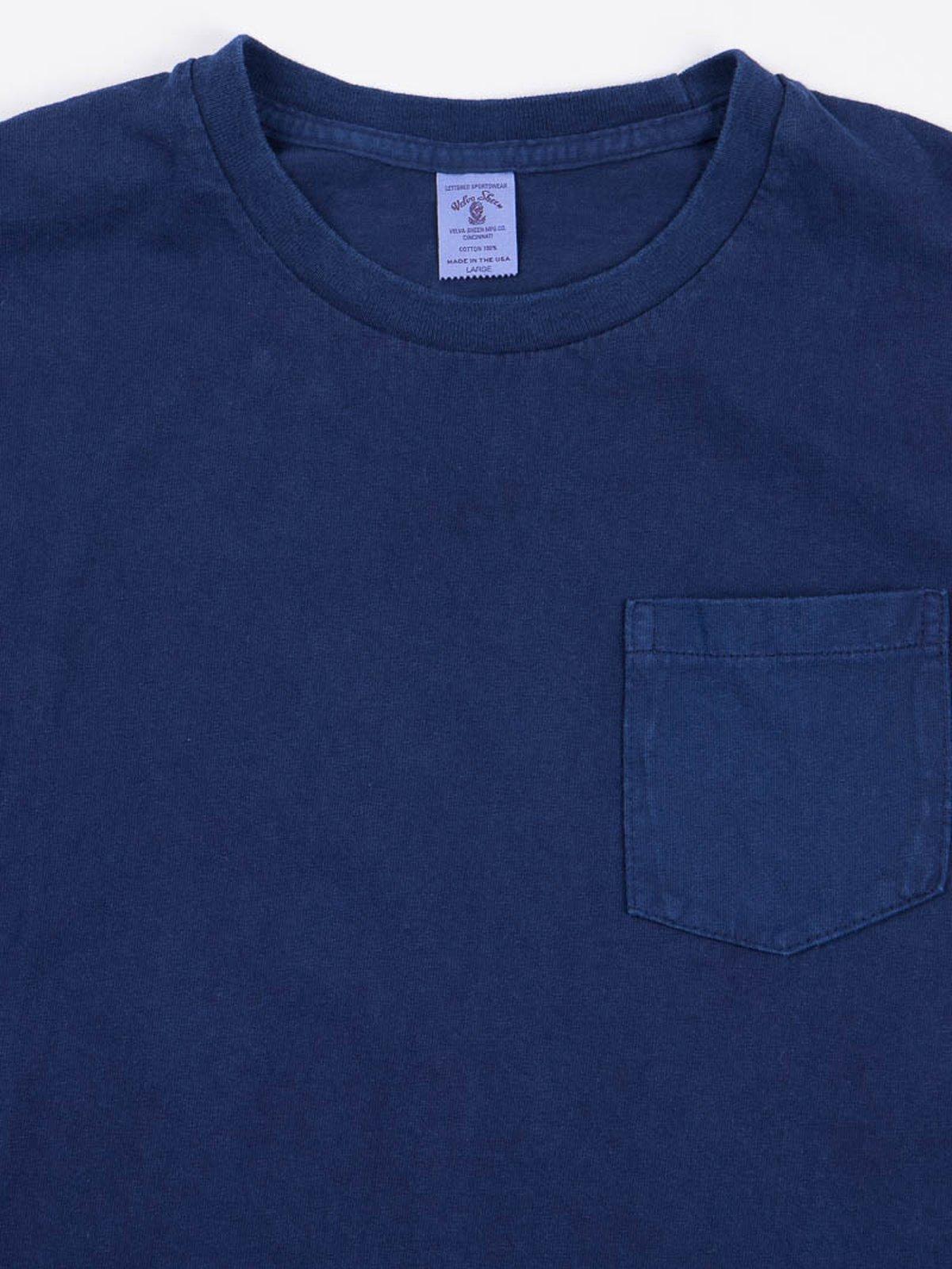 Blue Indigo 1–Pac Pocket Tee - Image 3