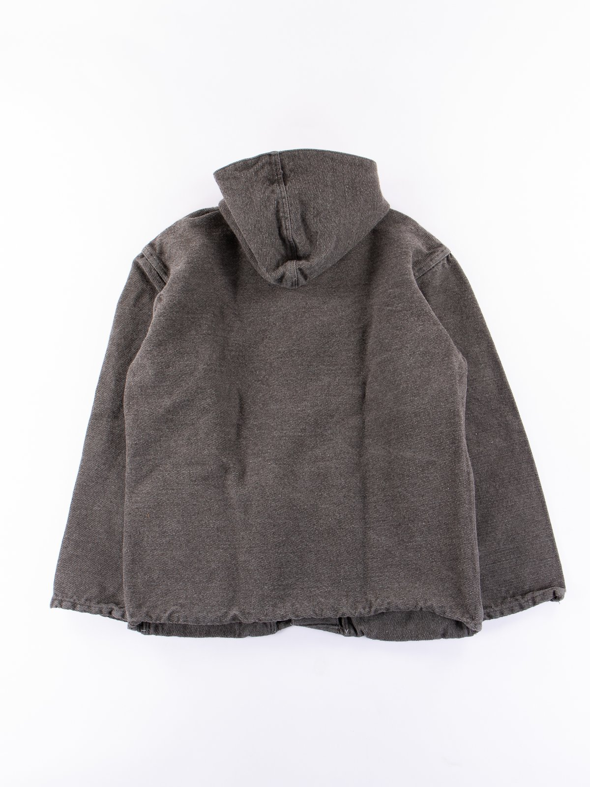 Indian Black Dye Hooded Shepherd's Coat - Image 6