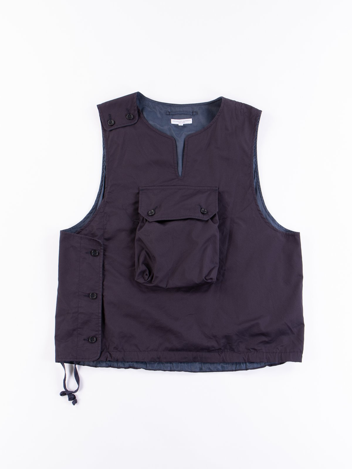 Dark Navy High Count Twill Cover Vest - Image 1