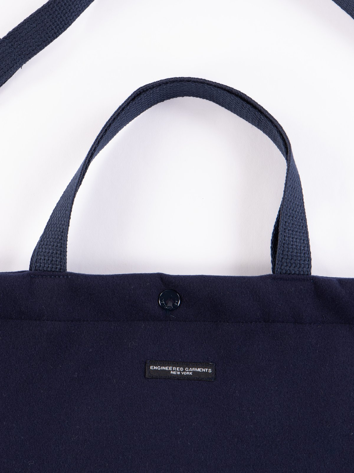 Navy Polyester Fake Melton Carry All Tote - Image 2