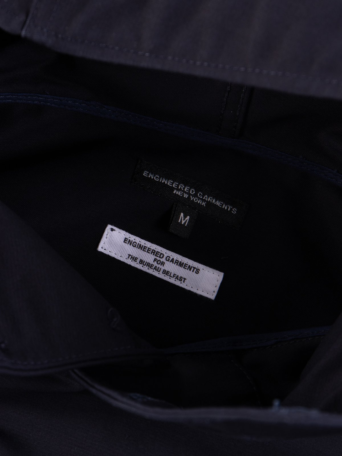 Navy Cotton Double Cloth Cagoule Shirt - Image 6