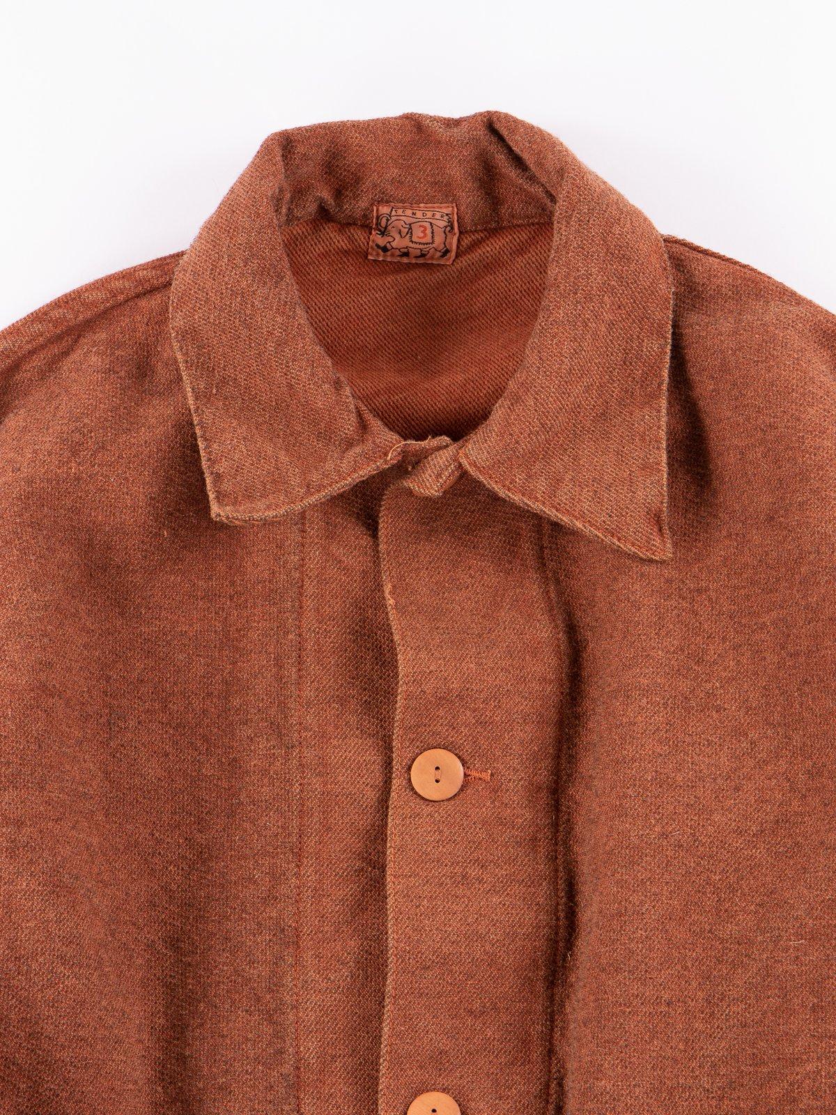 Red Ochre Dye Collared Shepherd's Coat - Image 3