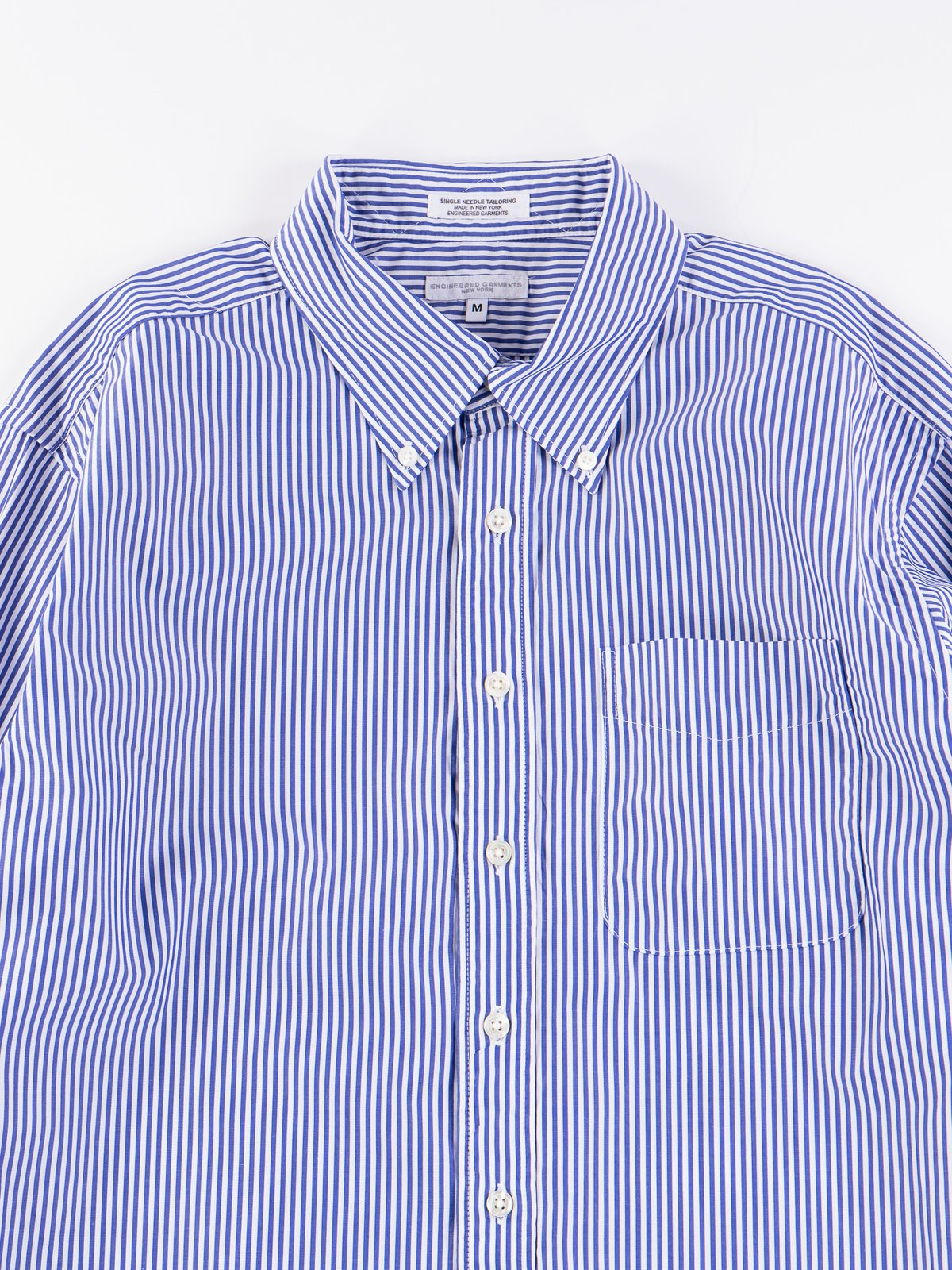 Blue/White Candy Stripe Broadcloth 19th Century BD Shirt - Image 4