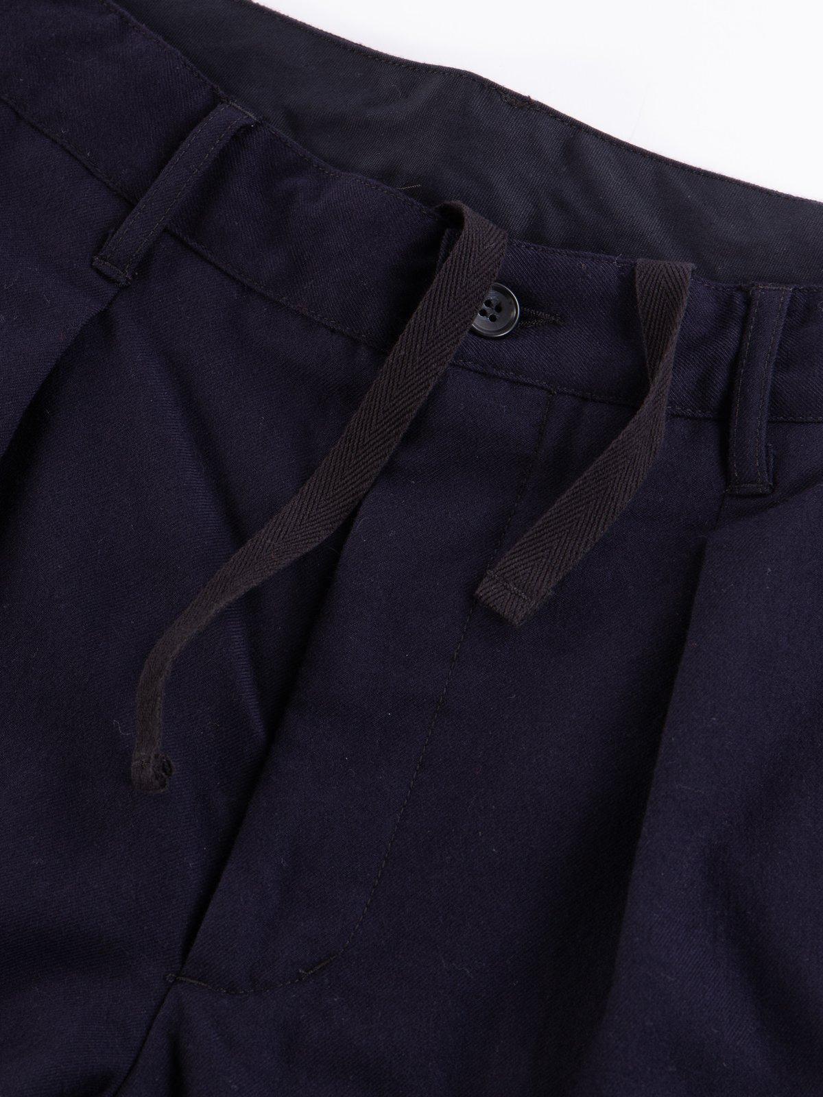 Dark Navy Wool Uniform Serge Carlyle Pant - Image 4