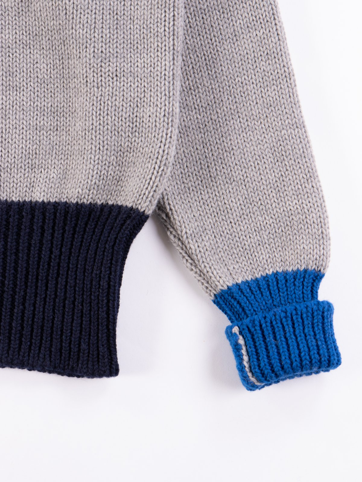 Grey/Navy/Blue George Lowe Roll Neck - Image 4