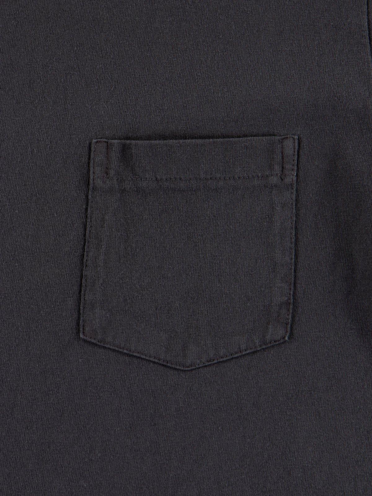 Black Pigment Dye Pocket Tee - Image 3