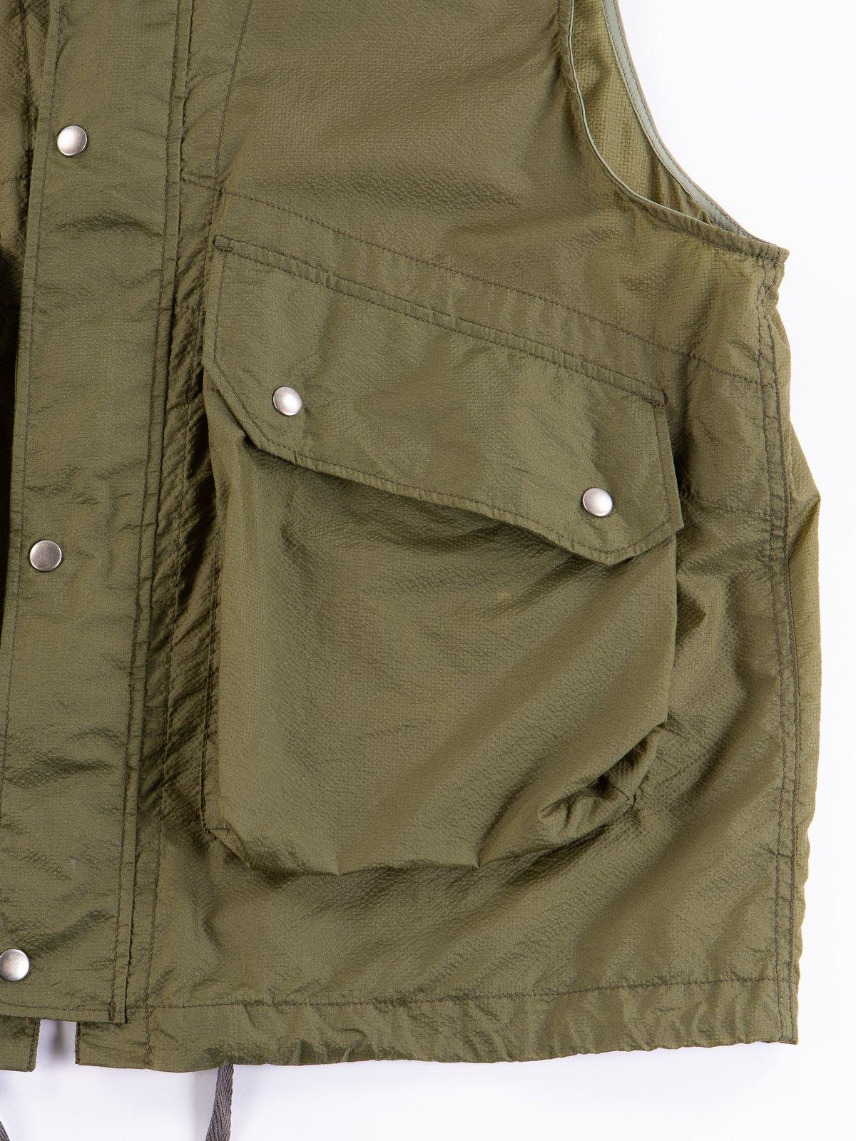 Olive Nylon Micro Ripstop Field Vest - Image 4