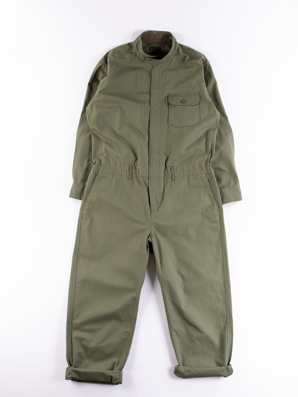 Olive Cotton Ripstop Boiler Suit - Image 1